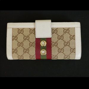 Authentic Gucci Canvas Wallet